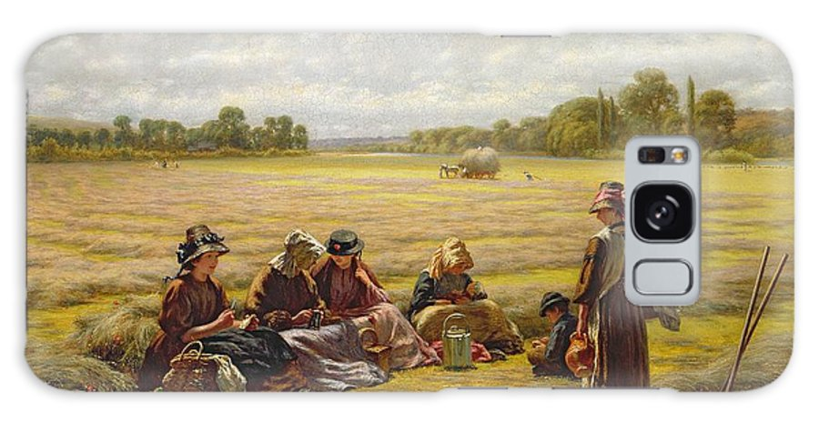 Ruhende Erntearbeiterinnen Bei Sonning Galaxy S8 Case featuring the photograph Harvesters Resting In The Sun, Berkshire, 1865 Oil On Canvas by Walter Field