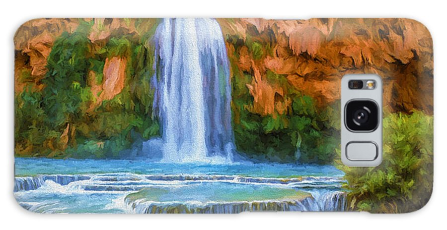 Fine Art Galaxy S8 Case featuring the painting Havasu Falls by David Wagner