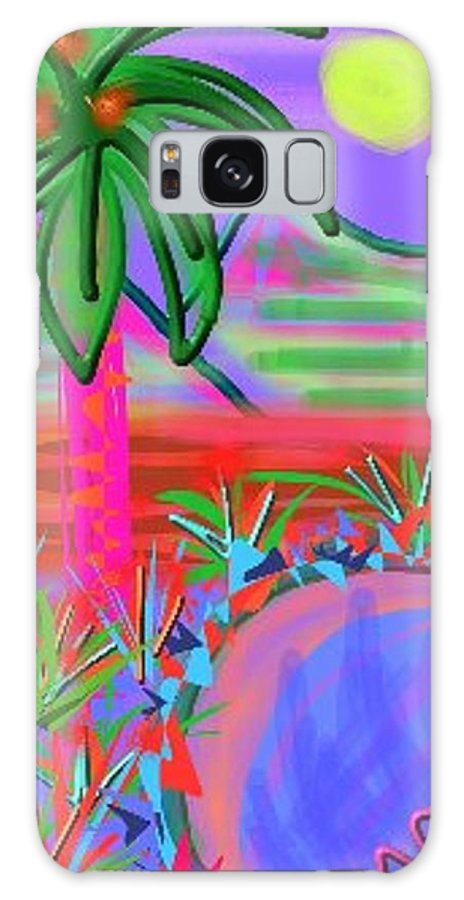 Abstract Galaxy S8 Case featuring the digital art Hawaii In My Dreams by Nancy Good