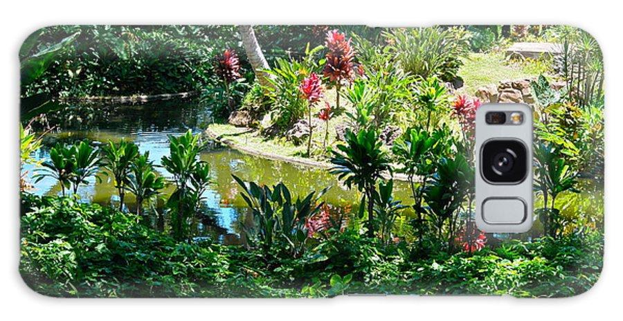 Hawaiian Garden Galaxy S8 Case featuring the photograph Hawaiian Cultural Garden Honolulu Airport by Michele Myers