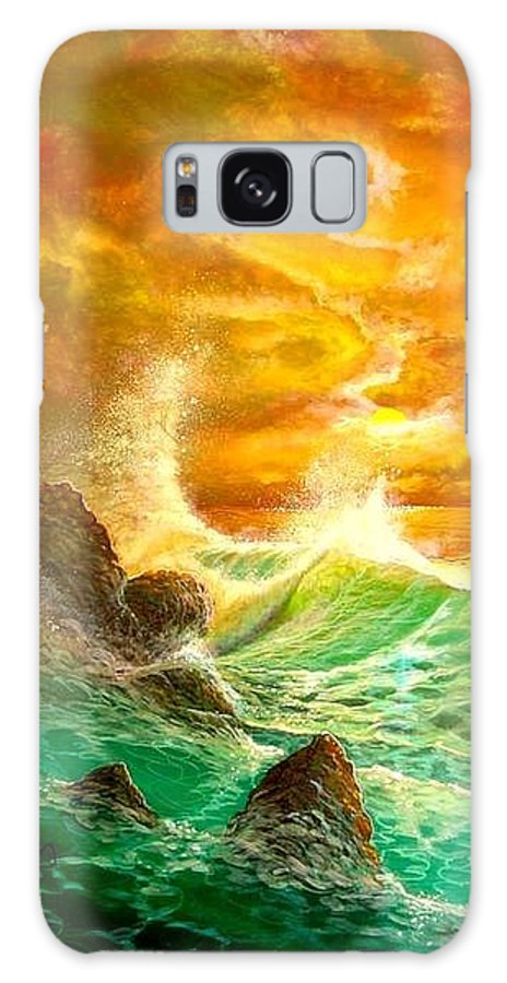 Hawaii Seascape Galaxy S8 Case featuring the painting Hawaiian Spirit Seascape by Leland Castro