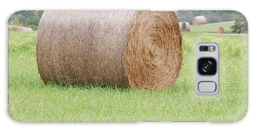 Straw Galaxy S8 Case featuring the photograph Hay Bale by Mark McReynolds