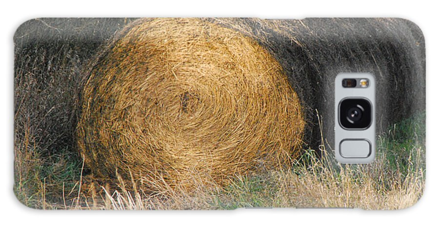 Hay Galaxy S8 Case featuring the photograph Hay Bale by Mary Carol Story