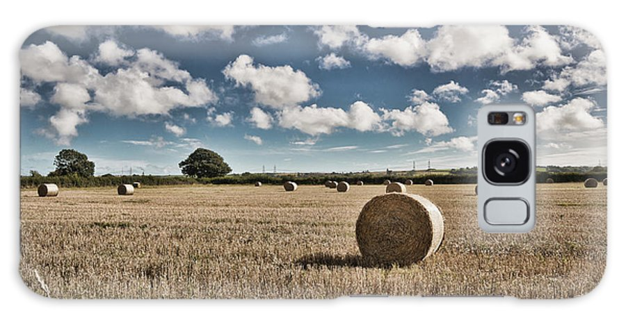 Hay Bales Galaxy S8 Case featuring the photograph Hay Bales 1 by Steve Purnell