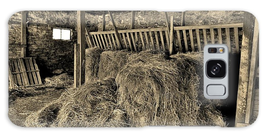 Hay Galaxy S8 Case featuring the photograph Hay Barn by Bob Geary