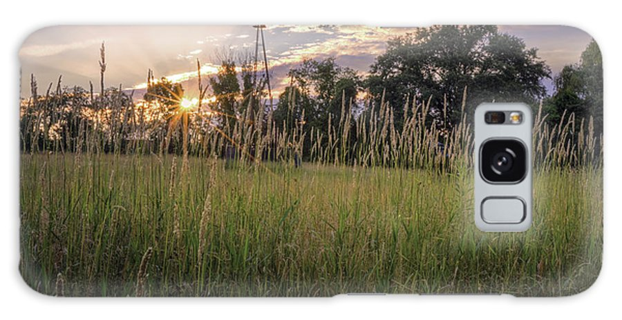 Bucolic Galaxy S8 Case featuring the photograph Hay Field Sunset by Bill Wakeley