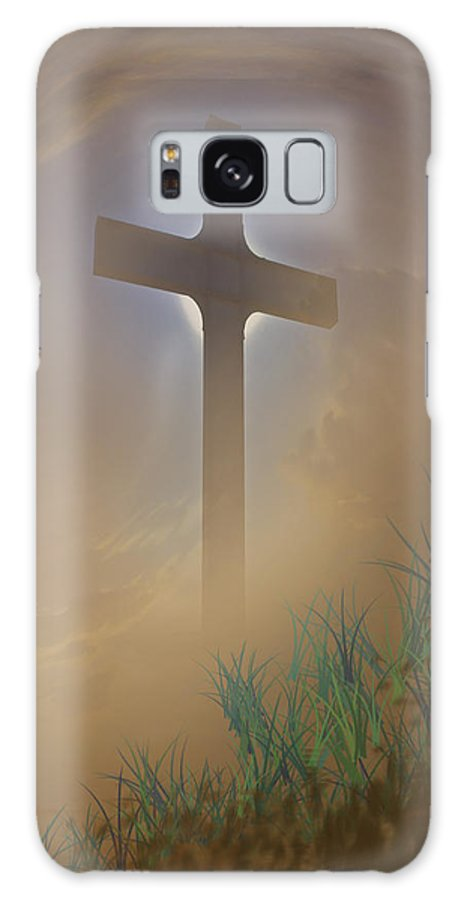 Cross Galaxy S8 Case featuring the photograph He Lives by David and Carol Kelly