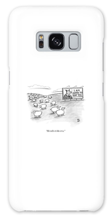 Sheep Galaxy Case featuring the drawing He Tells It Like It Is by Paul Noth