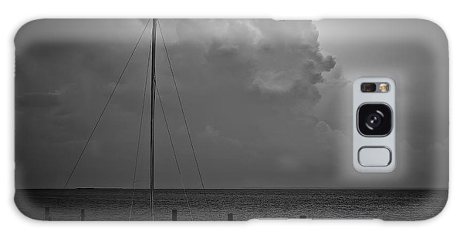 Lbi Galaxy S8 Case featuring the photograph Head In The Clouds In Black And White by Mark Miller