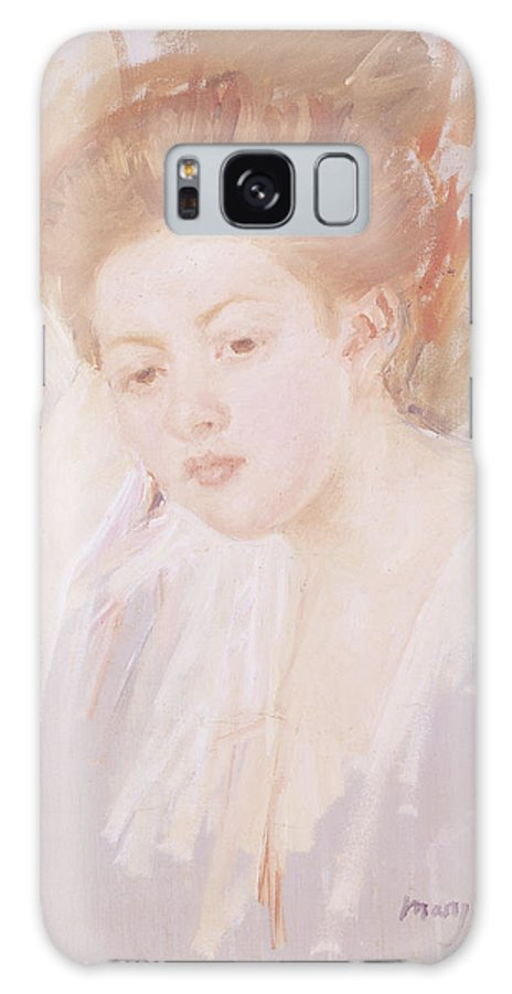 Tete De Jeune Fille Galaxy S8 Case featuring the photograph Head Of A Young Girl Pastel On Paper by Mary Stevenson Cassatt