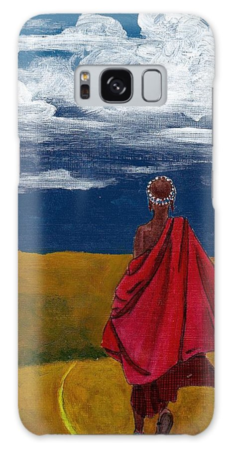 Figurative Painting Galaxy S8 Case featuring the painting Heading Home by Edith Peterson