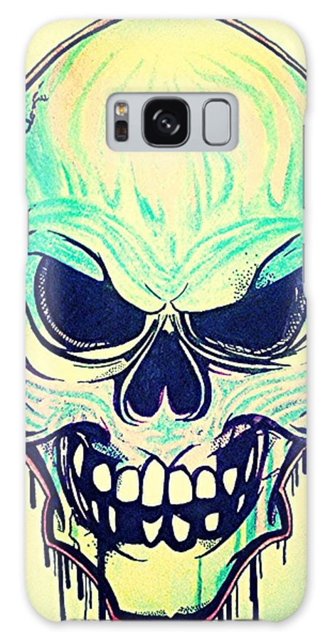 Skulls Galaxy S8 Case featuring the mixed media Headstrong by Jake Huenink