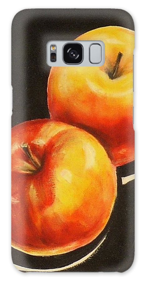 Apple Galaxy S8 Case featuring the painting Healthy Eating II by Sheila Diemert