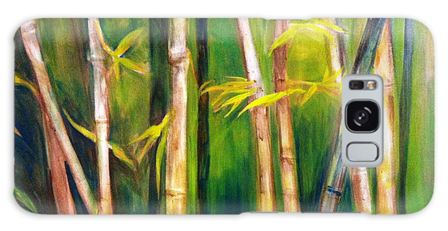 A Landscape Painting Lush With The Feel Of The Forest. Galaxy S8 Case featuring the painting Hear The Bamboo by Bianca Romani