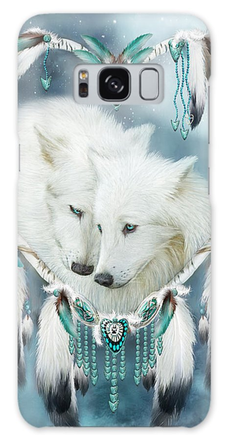 Carol Cavalaris Galaxy Case featuring the mixed media Heart Of A Wolf by Carol Cavalaris