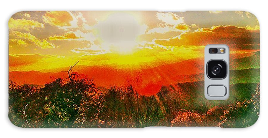 Mnt Landscape Galaxy S8 Case featuring the photograph Heavenly Light. North Carolina Blue Ridge by Robin Bloom