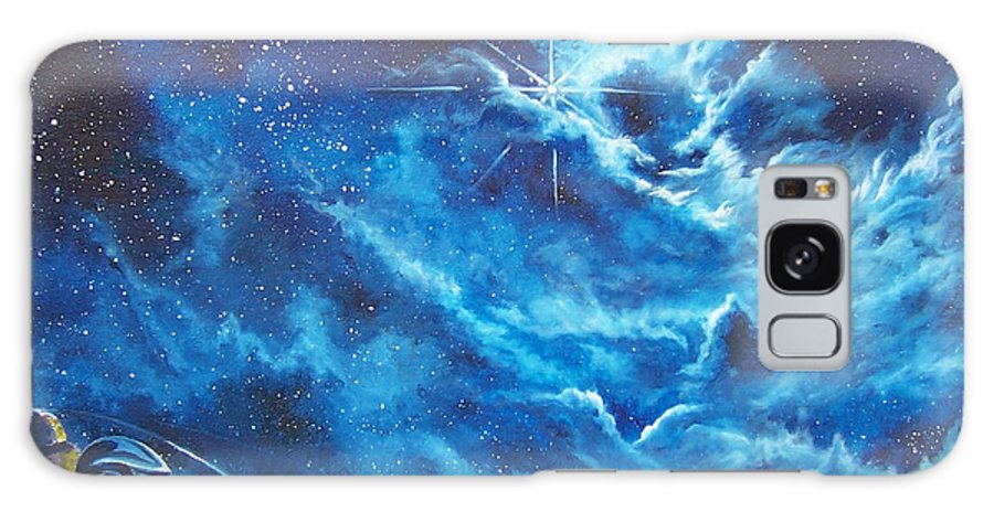 Astro Galaxy Case featuring the painting Heavens Gate by Murphy Elliott