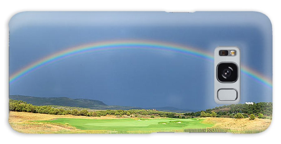 Rainbow Galaxy S8 Case featuring the photograph Heber Valley Rainbow by Johnny Adolphson
