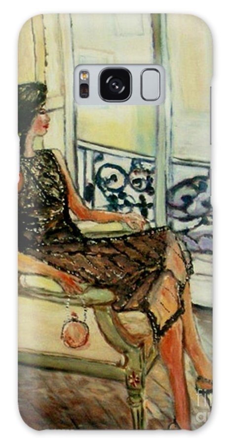 Figurative Galaxy S8 Case featuring the painting Heddy by Helena Bebirian