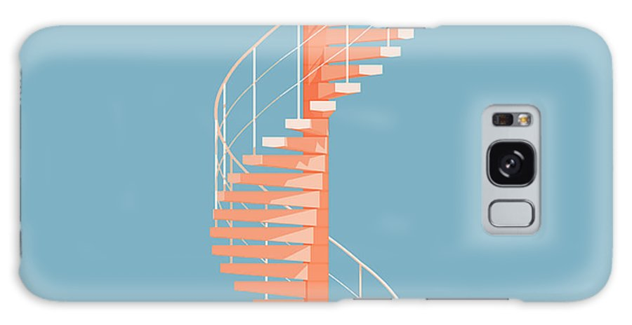 Architecture Galaxy S8 Case featuring the digital art Helical Stairs by Peter Cassidy