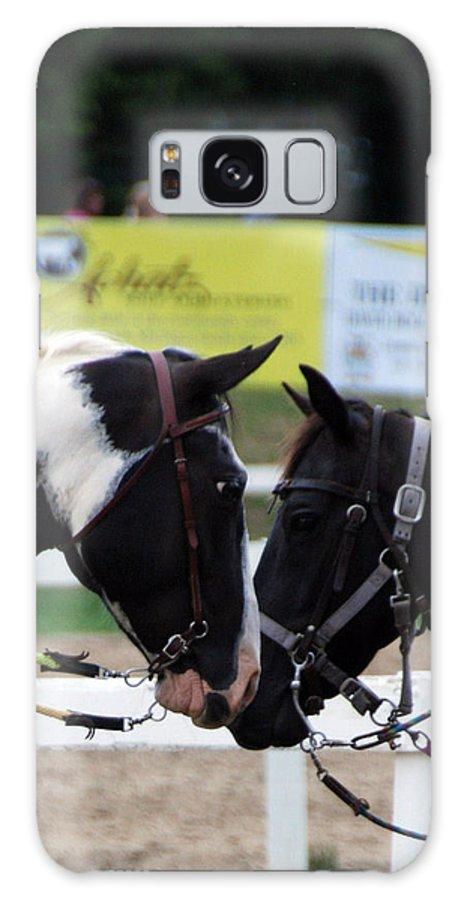 Horse Galaxy S8 Case featuring the photograph Hello Friend by Dawn Dasharion