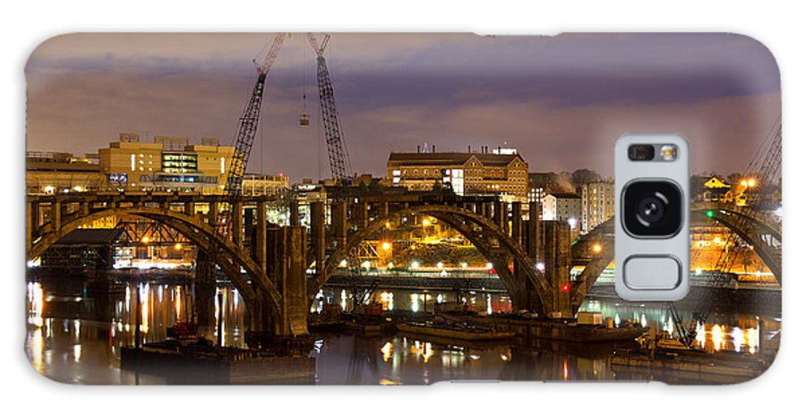 Henley Galaxy S8 Case featuring the photograph Henley Street Bridge Renovation by Douglas Stucky