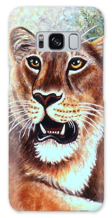 Big Cat Galaxy S8 Case featuring the painting Her Highness by Linda Mears