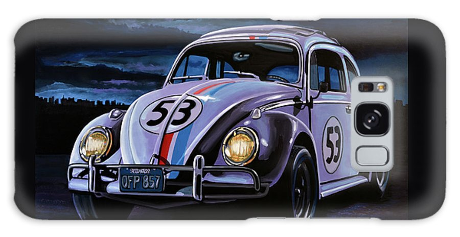 Herbie Galaxy Case featuring the painting Herbie The Love Bug Painting by Paul Meijering