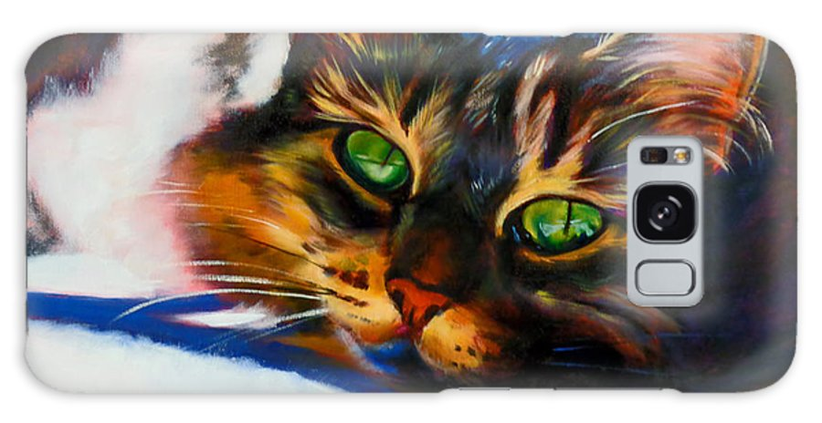 Animal Galaxy S8 Case featuring the painting Here Kitty Kitty by Kaytee Esser