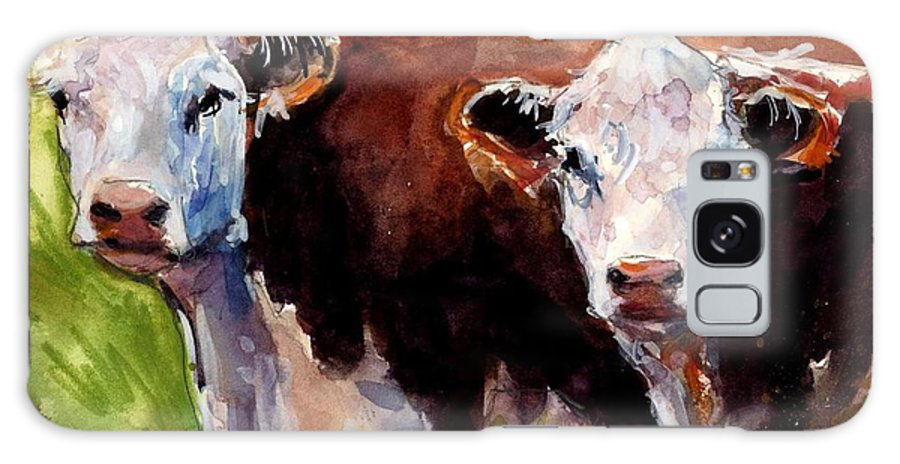 Hereford Cows Galaxy S8 Case featuring the painting Hereford Ears by Molly Poole