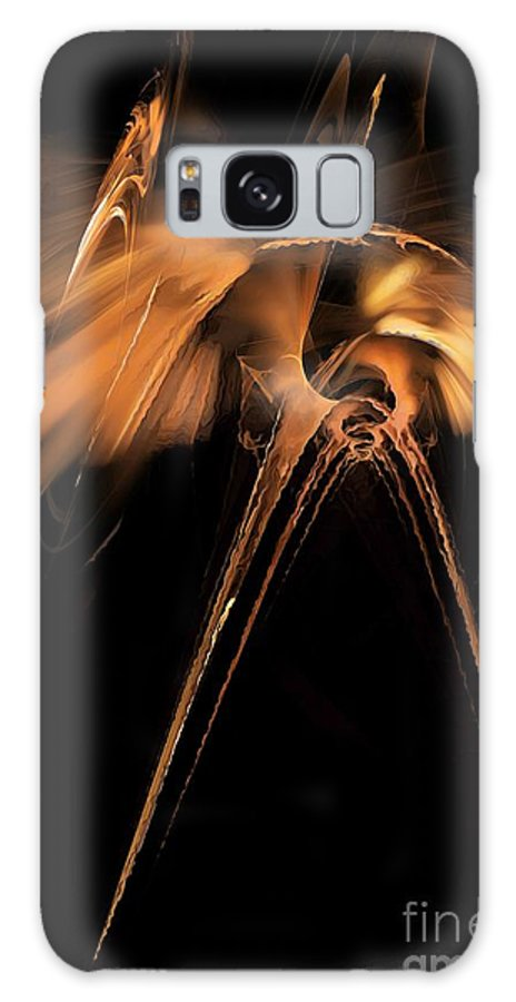 Painting Galaxy S8 Case featuring the digital art Heron - Marucii by Marek Lutek