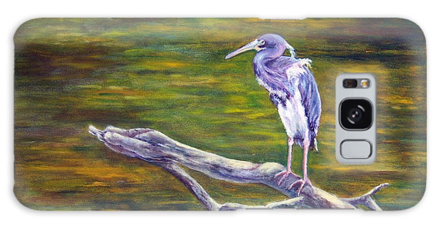 Heron Galaxy S8 Case featuring the painting Heron Watching by Alina Martinez-beatriz