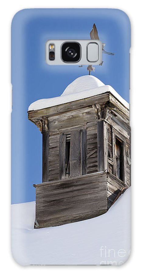 Winter Galaxy S8 Case featuring the photograph Heron Weathervane by Alan L Graham