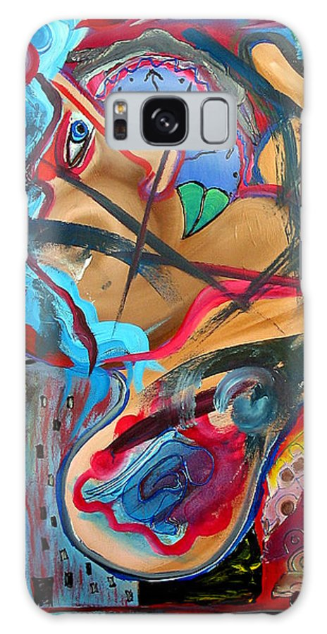 Angel Galaxy S8 Case featuring the painting Hidden Angel by Laura Barbosa