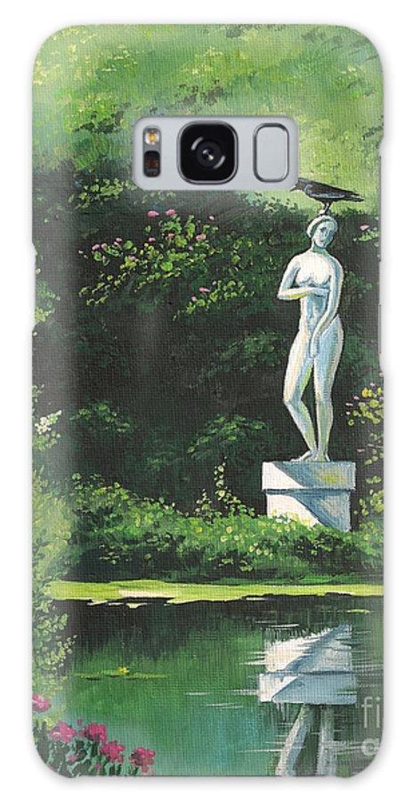 Landscape Galaxy S8 Case featuring the painting Hidden Garden by Margaryta Yermolayeva