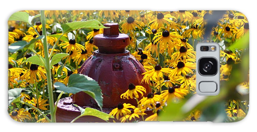 Black Eyed Susans Galaxy S8 Case featuring the photograph Hidden Hydrant by Eric Liller