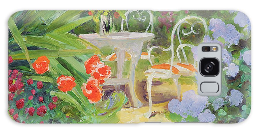 Garden Table Galaxy S8 Case featuring the photograph Hidden Table, 20078 Oil On Board by William Ireland