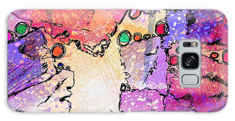 Abstract Galaxy S8 Case featuring the digital art Hide And Seek by Rachel Christine Nowicki
