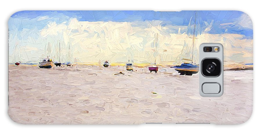 Yachts Galaxy Case featuring the photograph High and dry by Sheila Smart Fine Art Photography