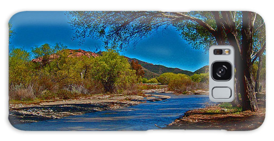 High Desert Galaxy S8 Case featuring the photograph High Desert River Bed by Joseph Coulombe