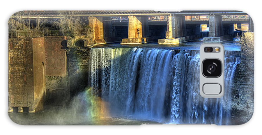 Rainbow Galaxy S8 Case featuring the photograph High Falls Rainbow by Tim Buisman