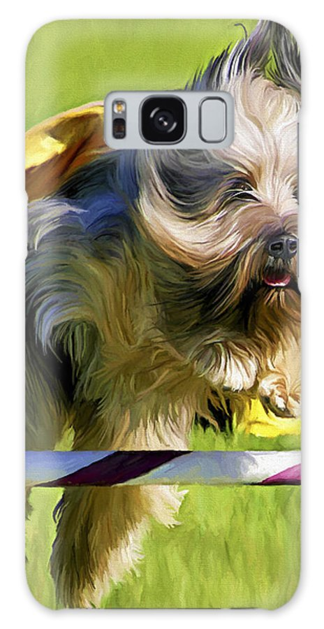 Silky Terrier Galaxy S8 Case featuring the painting High Flier by David Wagner