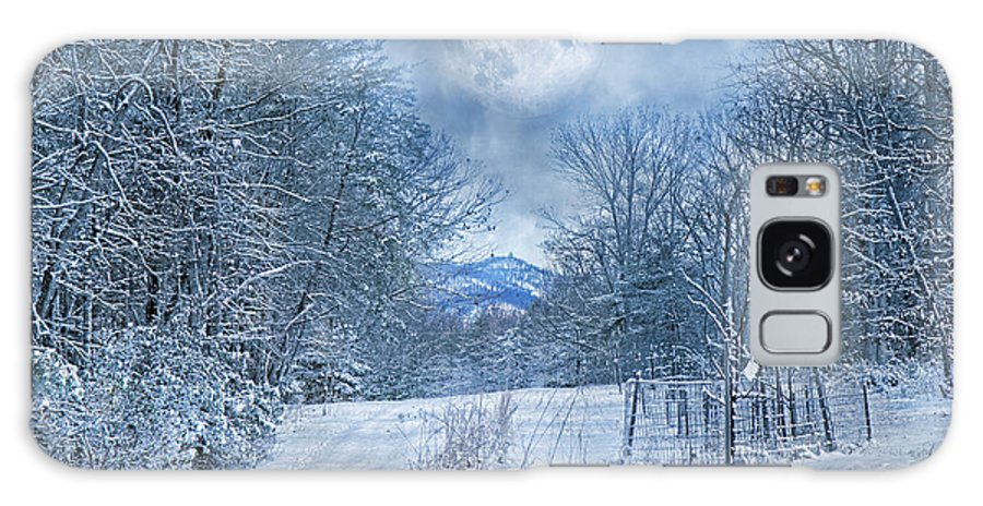 Winter Galaxy S8 Case featuring the photograph High Peak Mountain Snow by Betsy Knapp
