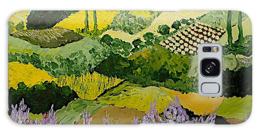 Landscape Galaxy Case featuring the painting High Ridge by Allan P Friedlander