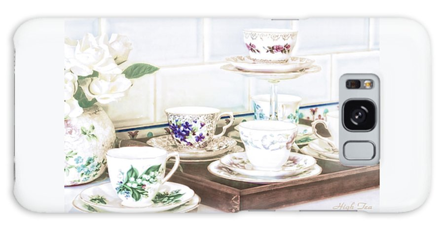 High Tea Galaxy Case featuring the photograph High Tea by Holly Kempe