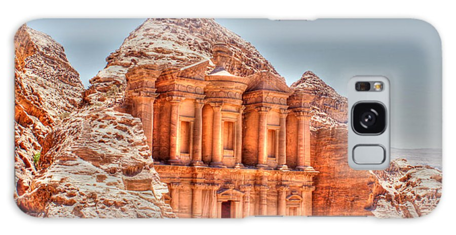 Petra Galaxy S8 Case featuring the photograph High Temple At Petra by David Birchall