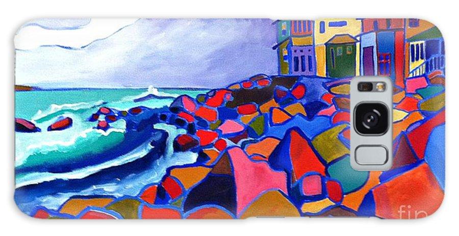 Landscape Galaxy Case featuring the painting High Tide Boars Head NH by Debra Bretton Robinson