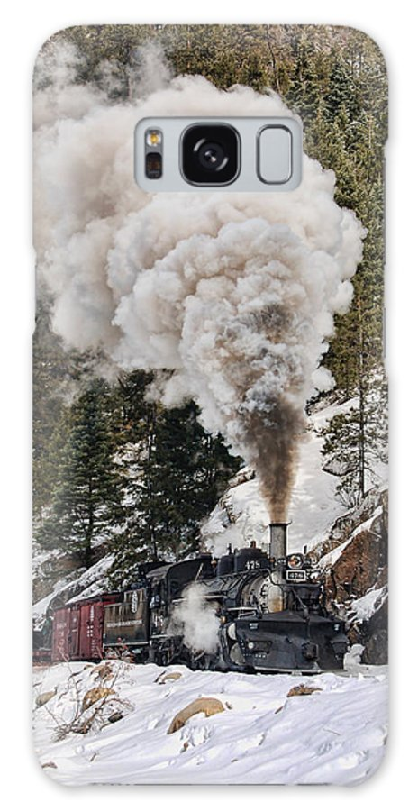 Steam Train Galaxy S8 Case featuring the photograph Highball Through Cascade Canyon by Ken Smith