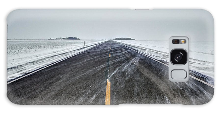 Road To Nowhere Galaxy S8 Case featuring the photograph Highway 34 by Aaron J Groen