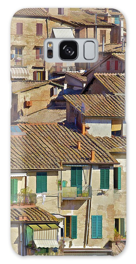 under The Tuscan Sun Galaxy S8 Case featuring the photograph Hill Town Village Of Cortona by David Letts